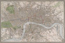 New plan of the cities of London & Westminster with the borough of Southwark (1845)
